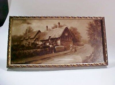 £25.32 • Buy Lot #2: Framed Print, Ann Hathaway's Cottage By Elmer Keene Sepia,  Early 1900s