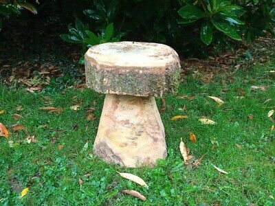 £30 • Buy Large Mushroom Chainsaw Carving, Garden Stool, Rustic Seat, Forest Toadstool