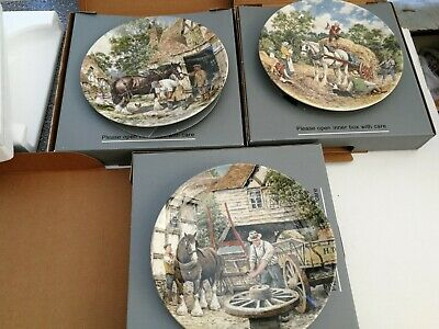 £14.95 • Buy 3 X Wedgewood Life On The Farm Collection Collectors Plates Limited Edition