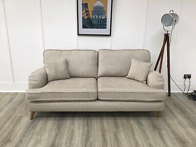 £649 • Buy 3 Seat Seater Sofa In Natural Fabric (Lilly)