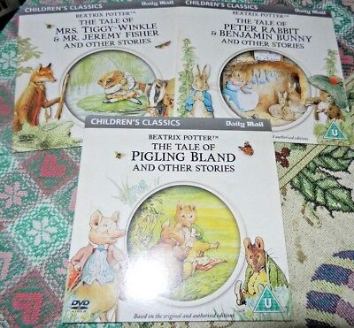£6 • Buy Daily Mail Promo DVD Children's Classics - Beatrix Potter X 3 Animated Stories