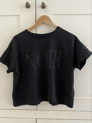 £15 • Buy Aoc Absence Of Colour Topshop Black Cropped Tee T Shirt S Uk 10 £65 Bnwot