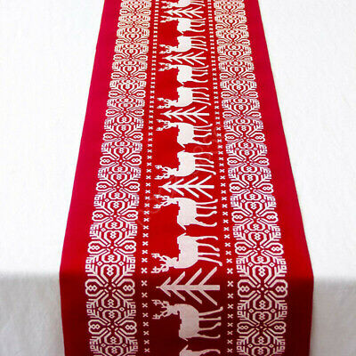AU27.26 • Buy Christmas Table Flag Xmas Table Runner Tablecloth Dining Place Mat Party Decor