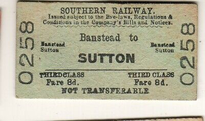 £1.99 • Buy Railway Ticket Southern Rly Banstead - Sutton 1949