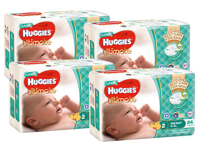 AU57.27 • Buy Huggies Ultimate Nappies Convenience Value Box - Size 2 Infant (96)