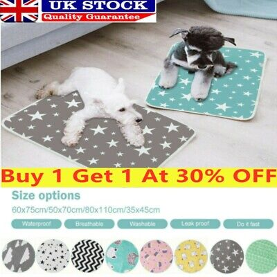 £7.69 • Buy Pet Puppy Pee Pads Mats Large Training Pad Toilet Pee Washable Cat Dog Supplies