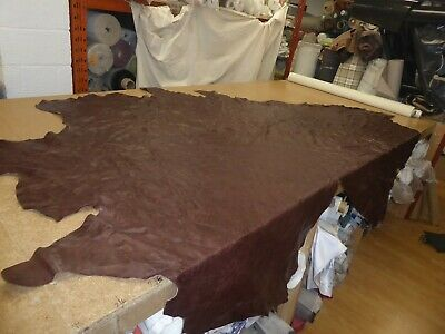 £51.51 • Buy RICH BROWN - 31.22 Sqft - Glossy Distressed Leather Upholstery Hide