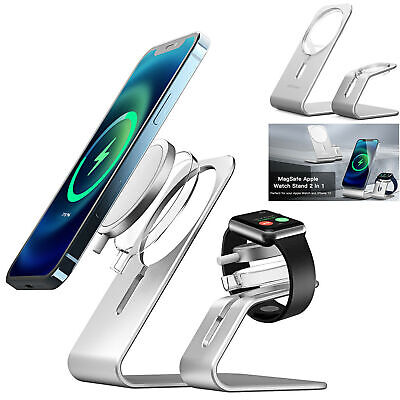 AU23.92 • Buy Aluminum Stand Wireless Charger Holder For IPhone 12 Pro Max Apple Watch