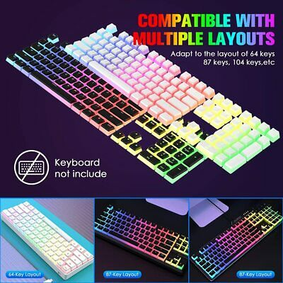 £11.80 • Buy Pudding Keycaps Double Shot PBT With Translucent Layer Keycap Puller DIY Keycap