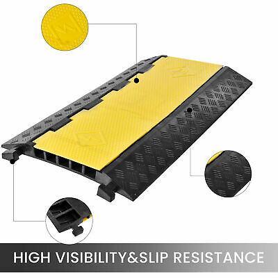 £39.99 • Buy 5 Channel Cable Protector Ramp Rubber Speed Bump Driveway Modular Speed Bumps UK