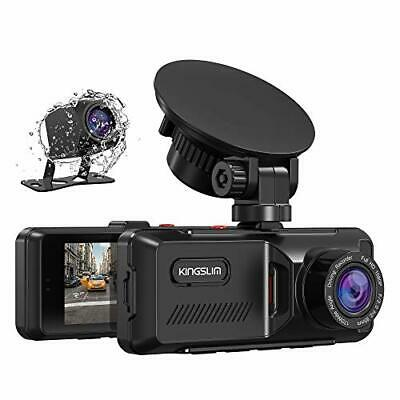 AU131.07 • Buy Kingslim D1 Dual Dash Cam With Built-in GPS 1080P Front And Rear Dash Cam For...