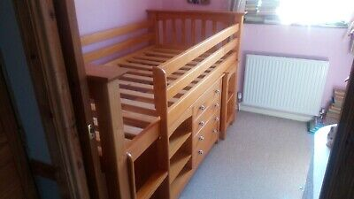 £120 • Buy Julian Bowen Cabin Bed Frame With Extendable Desk And Shelving