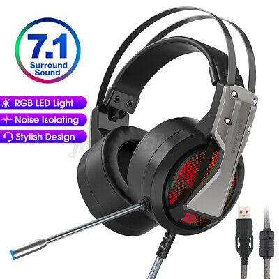 AU28.26 • Buy BlitzWolf BW-GH1 Gaming Headphone Mic 7.1 Surround Stereo Wired LED For