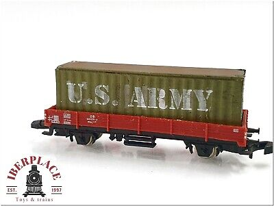 £7.25 • Buy Z 1:220 Scale Trains Märklin Military Freight Car Loaded With Container US Army