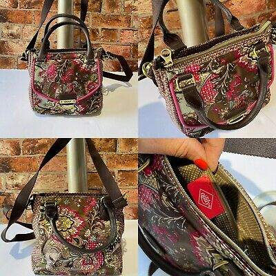 £15 • Buy Oilily Multi Printed Small Shoulder Bag Top Zip With Long Strap