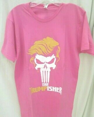AU11.80 • Buy Donald Trump Punisher Trumpisher XL Shirt MADE IN THE USA Brand New President