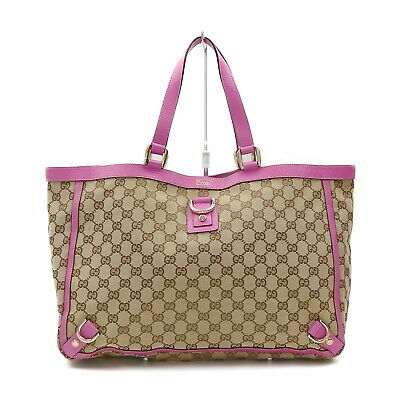 AU343.46 • Buy Gucci Tote Bag  Hot Pink Canvas 1536719