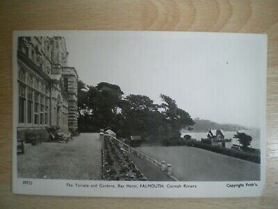 £1.80 • Buy Bay Hotel, Falmouth, Terrace & Gardens, Postcard, Postmarked 1960