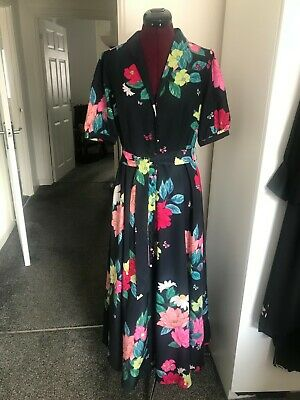 £12.50 • Buy Monsoon Blue , Pink Green Mix Button Front Dress Size 12 New With Tags