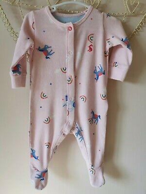 £0.99 • Buy Joules Baby Girls Pink Sleepsuit 0-3 Months
