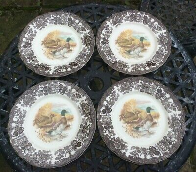 £8.20 • Buy Palissy Game Series By Royal Worcester - Dinner Plates X 4 - Mallards
