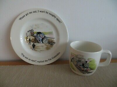 £2.99 • Buy Wedgwood THOMAS THE TANK ENGINE AND FRIENDS Plate And Mug