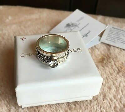 £40 • Buy Charlottes Web Silver Spinning Ring Tibetan Worry Jewellery Stone Gift Anxiety M