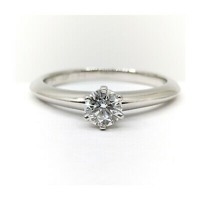 AU243.69 • Buy Tiffany And Co. Ring  Solitaire Diamond Platinum 1815378