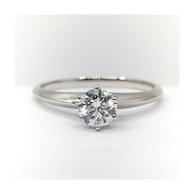 AU471.36 • Buy Tiffany And Co. Ring  Solitaire Diamond 0.43ct Platinum 1815321