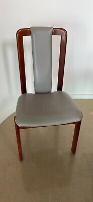 AU400 • Buy 8 Dining Chairs: Catt Jarrah And Leather.
