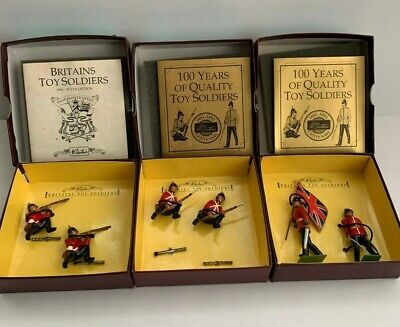 £20 • Buy W Britains 8816,  8817, &  8818 Sherwood Foresters Metal Toy Soldiers-3 Boxes