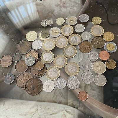 £2.20 • Buy Job Lot Of 274g Foreign Coins Unsorted Mixed