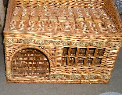 £10 • Buy PET CAT HOUSE Basketwork  Large Strong 22  X 14  Upstairs Downstairs To Collect