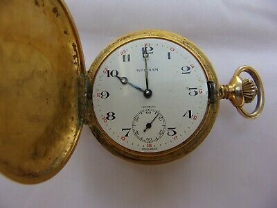 £110 • Buy Antique Waltham Gold Plated Double Hunter Pocket Watch - REDUCED