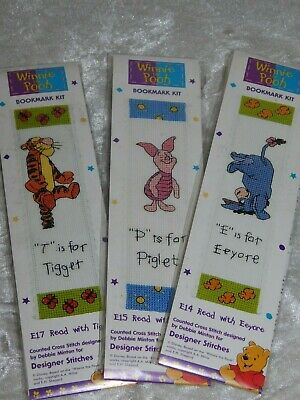 £4.99 • Buy Winnie The Pooh Bookmark Counted Cross Stitch Kit 3 Designs