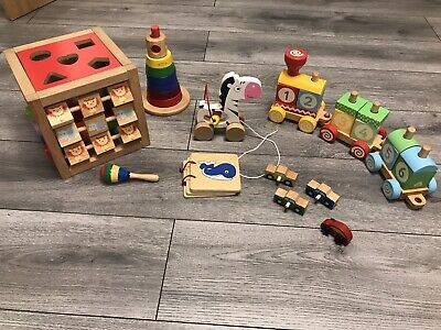 £1.20 • Buy Wooden Toys Bundle, Baby Toddler Educational, Play, Activity, Fun, Colourful