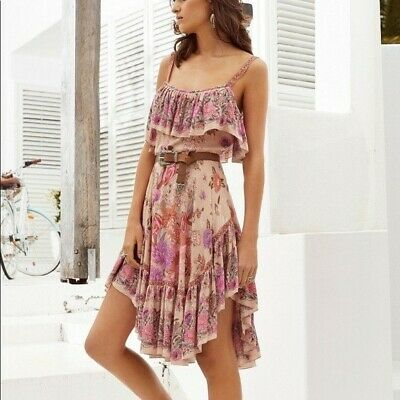 AU80 • Buy Spell And The Gypsy Collective Siren Song Strappy Boho Dress Flamingo SZ XXS
