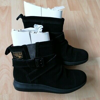 £29.99 • Buy Rocket Dog Mint Black Suede Winter Ankle Boot Boots UK Size 6