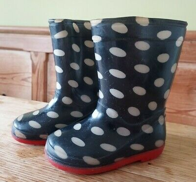 £2.50 • Buy Navy And White Spotty Wellies Size 5 Infant.