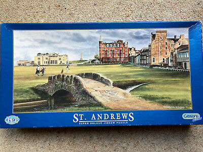 £1.99 • Buy GIBSONS 636 Piece Jigsaw St Andrews Terry Harrison Super Deluxe
