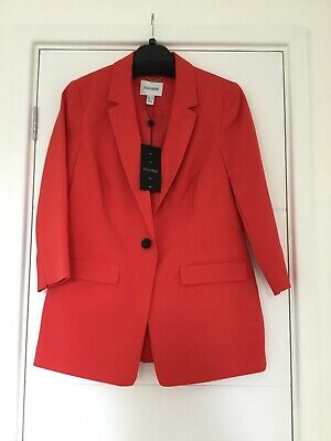 £5 • Buy Tailored Red Three Quarter Sleeve Jacket - Size 10 - NWT