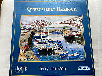 £2.99 • Buy Gibsons Queensferry Harbour By Terry Harrison 1000 Piece Jigsaw Puzzle