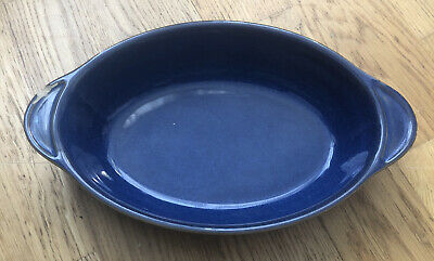 £2 • Buy Denby Imperial Blue Oval Serving / Casserole Dish