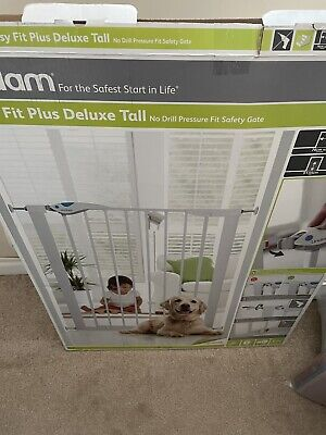 £4.99 • Buy Lindam Easy Fit Plus Deluxe Tall Extra High Pressure Fit Safety Gate 76-82 Cm,