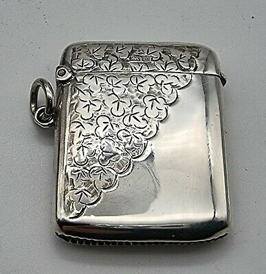 £75 • Buy Nice Good Condition Antique Sterling Silver Vesta Case Chester 1904
