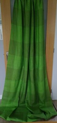 £24 • Buy Unused Vintage 60's/70s Linen Union Green Large Checked Curtain Panel 51  X 100
