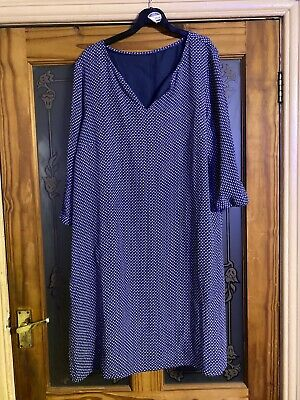 AU7.34 • Buy Crew Clothing Size 42  Bust Dress In Navy Pattern