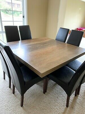 AU500 • Buy Travertine Dining Table + 8 Chairs