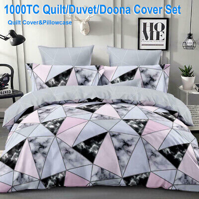 AU22.99 • Buy Marble Doona Duvet Quilt Cover Set Single Double Queen King Size Bed Pillowcases
