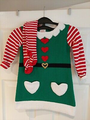 £3 • Buy Baby Toddler Christmas Elf Outfit With Matching Tights Size 18-24